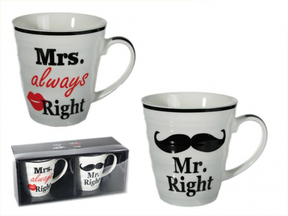 Kubki dla pary - Mr. Right & Mrs. always Right