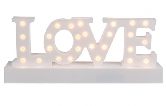 Napis LOVE - lampka LED