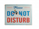 "Plakat - metalowa tablica pin up - szyld ""Do not disturb"""