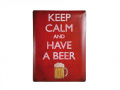 "Plakat - metalowa tablica - szyld ""Keep calm and have a beer"""