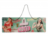 "Plakat - metalowa tablica pin up - retro szyld ""Motel"""